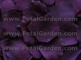 silk petals petal garden silk petals eggplant