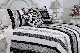 black and white bedding sets white wall theme white master bed