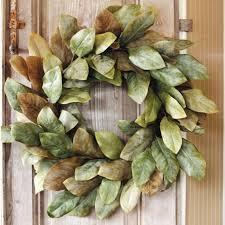 magnolia leaf wreath magnolia wreath traditional outdoor decor live