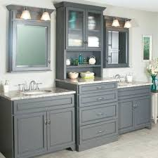 Pine Bathroom Storage Vanity With Center Cabinet Bathroom Counter Storage Tower
