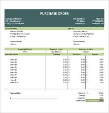 Po Template Excel 6 Free Purchase Order Templates Excel Pdf Formats