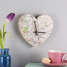 wedding clocks gifts personalised map location heart wall clock wedding gift by bombus