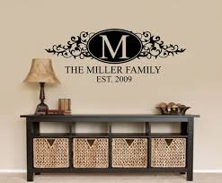 personalised family name wall decal wall art decal sticker personalised family name wall decal