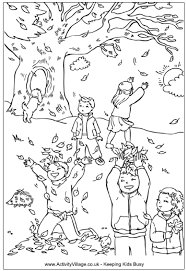 download autumn coloring pages for kids