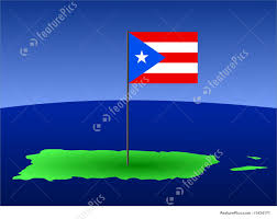 Puerto Rico Flag Illustration Of Map Of Puerto Rico With Flag