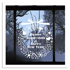 Christmas Window Decorations by Online Buy Wholesale Christmas Ring Stickers Decoration From China