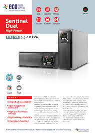 ecopowersupplies riello sentinel dual high power ups