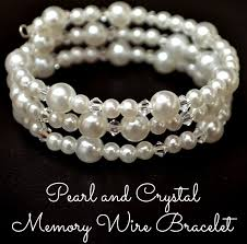 pearls bracelet diy images Pearl and crystal memory wire bracelet amy latta creations jpg