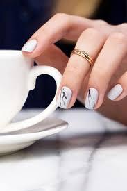 9 nail art ideas that make short nails look amazing marble nails