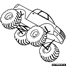 color monster truck huge monster trucks coloring