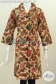 desain baju batik halus baju dress elegan desain berkelas daleman full furing baju batik