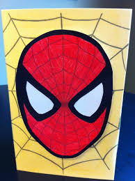 Spiderman Invitation Cards Spiderman Card My Kid Craft