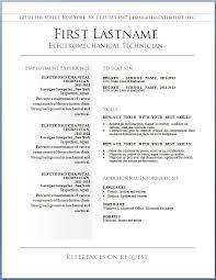 resume sample free download
