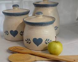 kitchen canister set ceramic kitchen canisters etsy
