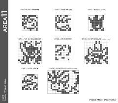 pokemon picross area 11 puzzle solution for 3ds by wulava gamefaqs