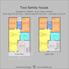 family house plans house plan terraced two family bi generation incredible floor