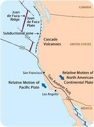 physical map of oregon juan de fuca plate continent convergent plate boundaries read earth