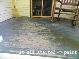 porch flooring ideas using porch floor paint to create a painted rug and numbered steps