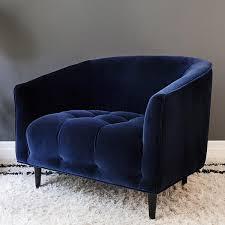 blue furniture carla large deep blue velvet armchair att pynta