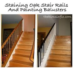 Oak Banisters Staining And Painting An Oak Banister Flashback Friday The Kim