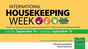 house keeping international housekeeping week marshall university operations