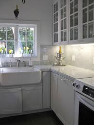 interior modern kitchen marble backsplash white design countertops