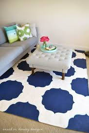 diy stenciled morrocan rug ottomans stencils and design