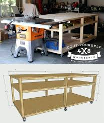 rolling work table plans rolling workbench plans new workbench baby garage workshop workbench
