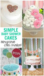 simple baby shower simple baby shower cakes anyone can make design dazzle