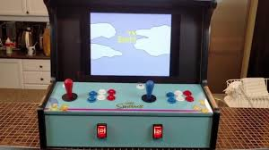 Tabletop Arcade Cabinet Simpsons 2 Player Bartop Arcade Cabinet Youtube