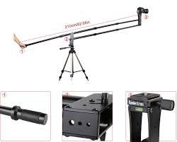 koolertron 6 5ft 2m portable camera crane jib arm up to amazon co