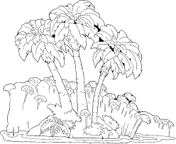 tropical beach coloring pages coloring palm trees on an island service road picture