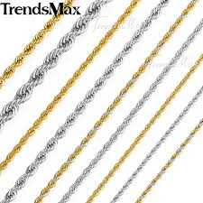 aliexpress buy anniversary 18k white gold filled 4 aliexpress buy trendsmax twisted rope link womens mens