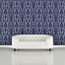 branches self adhesive wallpaper in mystery blue design by