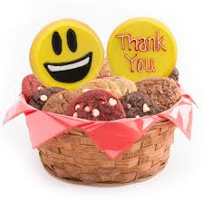 thank you basket thank you emoji gift basket cookie emojis cookies by design