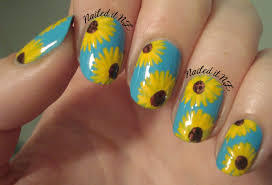 sunflower nail design image collections nail art designs