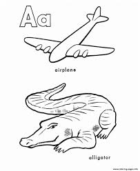 alphabet s printable a is for airplane and alligator16e3 coloring