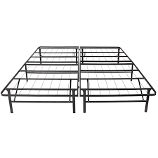 Bed Box Spring Frame Platform Metal Bed Frame Foldable No Box Spring Needed Mattress