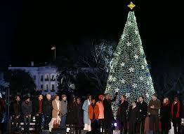 how to light a christmas tree obama family lights the white house christmas tree aol news