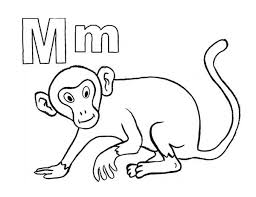 letter monkey coloring download u0026 print
