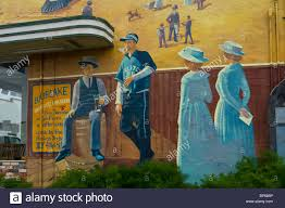 painted wall mural showing victorian era life in the early 1900 s painted wall mural showing victorian era life in the early 1900 s blue lake humboldt county california