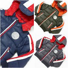 m boys navy blue puffer winter jacket school padded coat age size