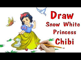 draw snowwhite princess drawing chibi