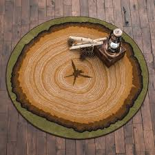 Round Flower Rug by Rustic Wildlife Rugs Including Moose And Bear Rugs Black Forest