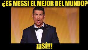 Memes De Cristiano Ronaldo - lionel messi marc祿 triplete y cristiano ronaldo es quien m磧s sufre