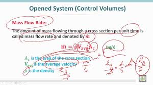 thermodynamics 1 c4 l2 of first law of thermodynamics for an opened system 1