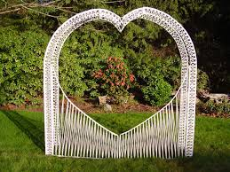 wedding arches to rent white wicker heart wedding arch all seasons rent all