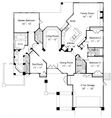 one level house plans modern with frontch floorches walkout