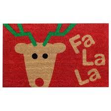 Holiday Doormat Mud Pie Sleigh Mates Santa Ho Ho Ho Welcome Holiday Doormat