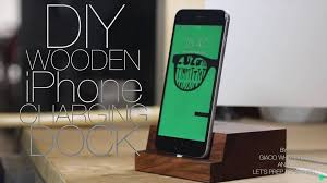 diy charging dock diy wooden iphone charging dock featured maker giaco whatever